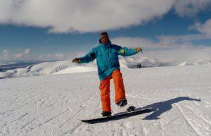 Упражнение на сноуборде